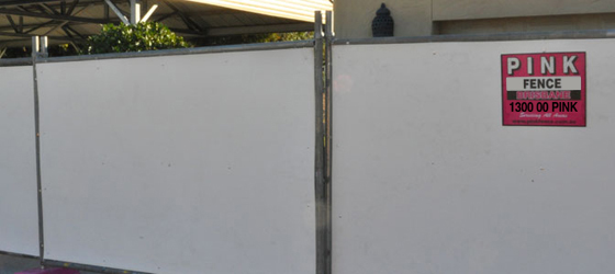 Hoarding - Pink Fence Hire - Portable Fencing Specialist